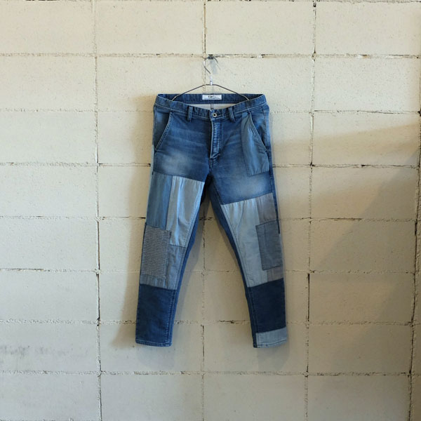 画像1: FDMTL CROPPED BORO DENIM 2YR
