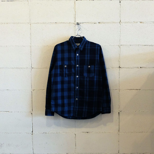 画像1: FDMTL INDIGO CHECK SHIRT