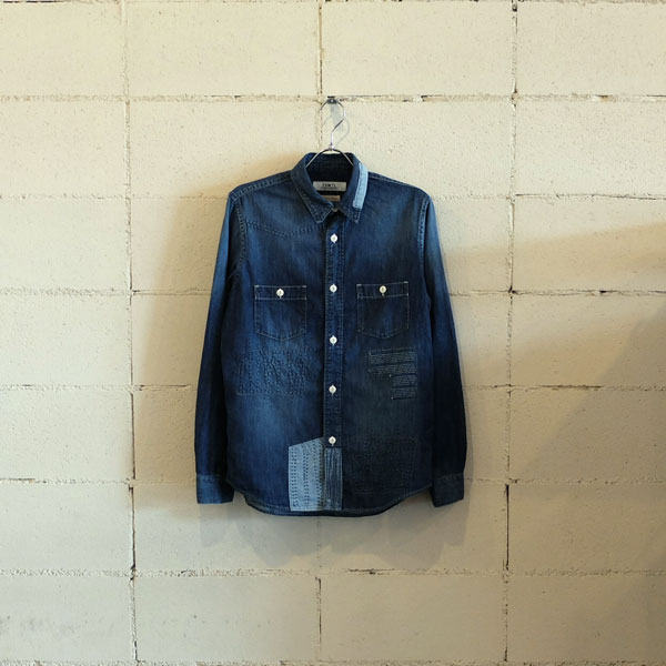 画像1: FDMTL DENIM SHIRT 3YR WASH