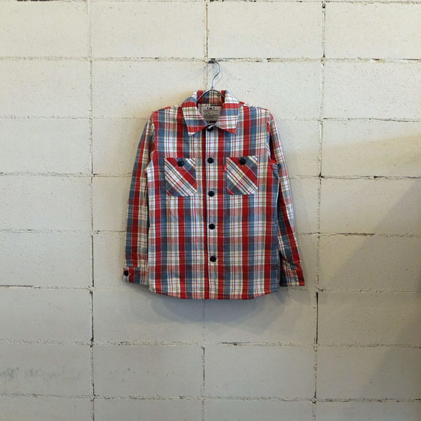 画像1: TMT VINTAGE MADRAS CHECK SHIRTS