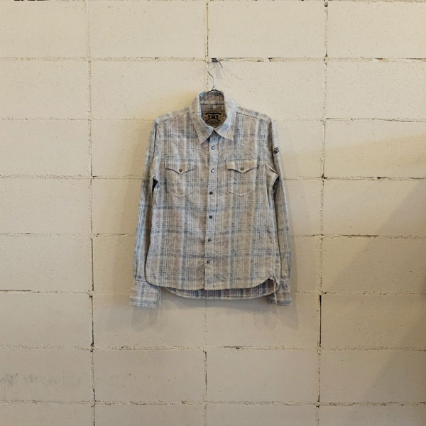 画像1: TMT SPECK-BLEACH CHECK SHIRTS