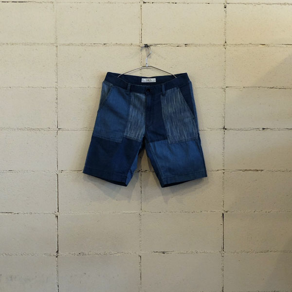 画像1: FDMTL BORO PATCHWORK SHORT PANTS 2YR WASH