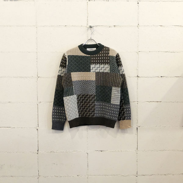 画像1: FDMTL PATCHWORK WOOL SWEATER