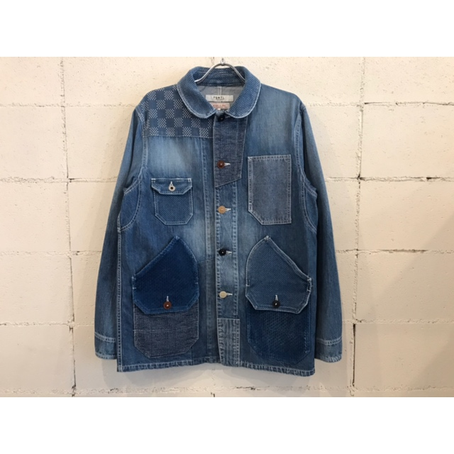 画像1: FDMTL PATCHWORK COVERALL 3YR WASH