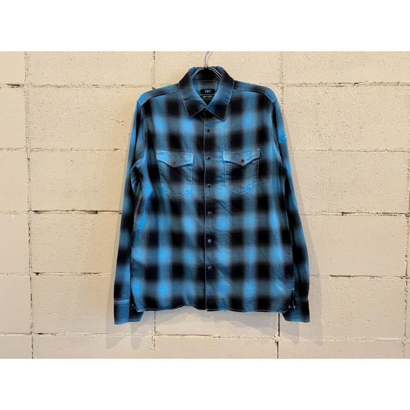 画像1: TMT 80'S NEON COLOR OMBRE CHECK SHIRTS