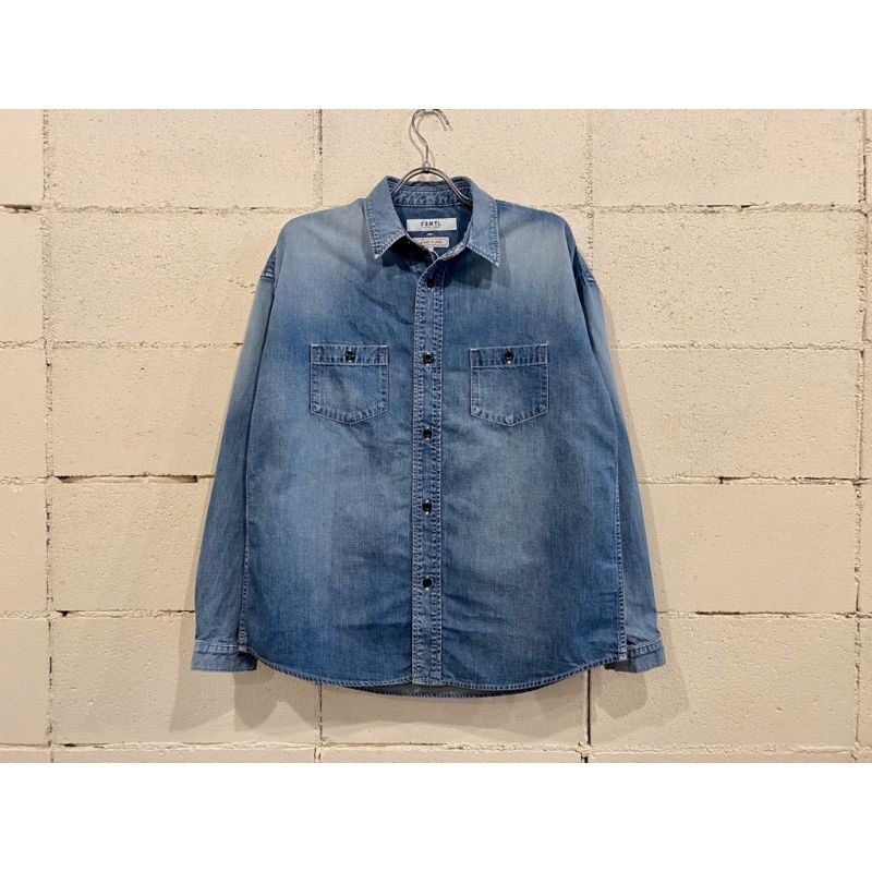画像1: FDMTL PATCH DENIM SHIRT 3YR WASH