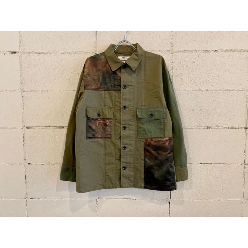 画像1: FDMTL PATCHWORK SHIRT JACKET RINSE